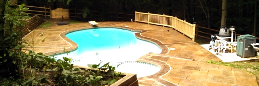 pool patio Stampcrete
